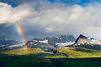 Rainbow over the Chugach Mountains of Alaska