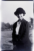 fashionable young adult woman smiling countryside USA 1920s