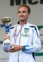 Best Slovenian athlete Roman Kejzar  at the medal ceremony of the 14th Marathon of Ljubljana, on October 25, 2009, in Ljubljana, Slovenia.  (Photo by Vid Ponikvar / Sportida)