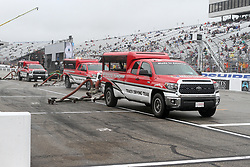 July 22, 2018 - Loudon, NH, U.S. - LOUDON, NH - JULY 22: The track dryers working on pit lane during the rain delay before the Monster Energy Cup Series Foxwoods Resort Casino 301 race on July, 21, 2018, at New Hampshire Motor Speedway in Loudon, NH. (Photo by Malcolm Hope/Icon Sportswire) (Credit Image: © Malcolm Hope/Icon SMI via ZUMA Press)