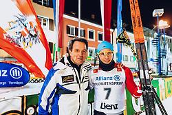 17.01.2020, Hauptplatz, Lienz, AUT, Dolomitenlauf, Dolomitensprint, im Bild v.l.: Franz Theurl (TVB Obmann und Organisator), 1. Platz Bernhard Tritscher (AUT) // during the Dolomitenlauf Dolomitensprint at the main square, Lienz, Austria on 2020/01/17, EXPA Pictures © 2020 PhotoCredit: EXPA/ Dominik Angerer