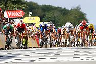 Arrival sprint, Peter Sagan (SVK - Bora - Hansgrohe) - Andre Greipel (GER - Lotto Soudal) - Fernando Gaviria (COL - QuickStep - Floors) - John Degenkolb (GER - Trek - Segafredo) - Alexander Kristoff (NOR - UAE Team Emirates) - Marcel Kittel (GER - Team Katusha - Alpecin) during the Tour de France 2018, Stage 4, Team Time Trial, La Baule - Sarzeau (195 km) on July 10th, 2018 - Photo Luca Bettini / BettiniPhoto / ProSportsImages / DPPI