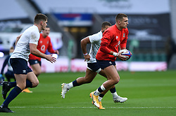 Henry Slade of England in action during the pre-match warm-up - Mandatory byline: Patrick Khachfe/JMP - 07966 386802 - 14/11/2020 - RUGBY UNION - Twickenham Stadium - London, England - England v Georgia - Autumn Nations Cup