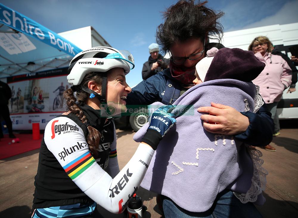 Trek-Segafredo's Lizzie Deignan after stage two of the 2019 Women's Tour de Yorkshire.