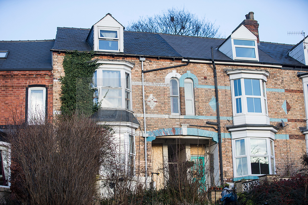© Licensed to London News Pictures. 19/12/2017. Sheffield UK. Picture shows the house (left) on Shirebrook Road in Sheffield that was raided this morning by Anti Terror police. Three men aged 22, 36 & 41 were arrested in a series of dawn raids in Sheffield this morning, a fourth man aged 41 has been arrested in Chesterfield. The raids have been carried out by specialist officers from the North East Counter Terrorism Unit. All four men are being held on suspicion of being concerned in the commission, preparation or instigation of acts of terrorism under section 41. Photo credit: Andrew McCaren/LNP