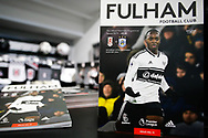 General stadium view inside Craven Cottage showing a match-day programme before The FA Cup 3rd round match between Fulham and Oldham Athletic at Craven Cottage, London, England on 6 January 2019.