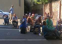 JOHANNESBURG, April 18, 2020  People sit together on a street in Johannesburg, South Africa, April 17, 2020. South Africa registered 178 new confirmed COVID-19 cases on Friday, the sharpest rise for a single day since the country recorded its first confirmed case on March 5, according to the Health Ministry. .   As of 4:00 a.m. Saturday local time, the country reported 2,783 confirmed cases and 50 deaths, according to a Johns Hopkins University tally. (Photo by Zodidi MhlanaXinhua) (Credit Image: © Xinhua via ZUMA Wire)