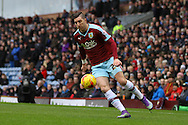 Stephen Ward of Burnley in action. Skybet football league Championship match, Burnley v Rotherham United at Turf Moor in Burnley, Lancs on Saturday 20th February 2016.<br /> pic by Chris Stading, Andrew Orchard sports photography.