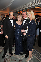 Left to right, the EARL & COUNTESS OF MARCH and BEN & LUCY SANGSTER at the 21st Cartier Racing Awards held at The Dorchester, Park Lane, London on 15th November 2011.