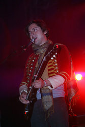 Carl Barât of Dirty Pretty Things on stage at the Isle of Skye festival, 2007..© Pic : Michael Schofield..