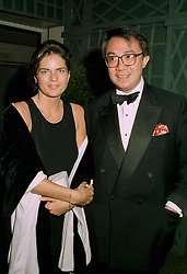 MISS LUCY WASTNAGE and her fiance MR DAVID TANG the multi millionaire Hong Kong businessman, at a reception in London on 12th June 1997.LZH 61