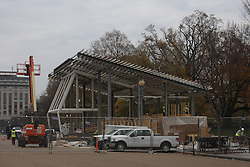 November 25, 2016 - Washington, District of Columbia, U.S - Construction has begun on the Inauguration Day viewing stands in front of the White House on Pennsylvania Avenue in Washington, DC. (Credit Image: © Evan Golub via ZUMA Wire)