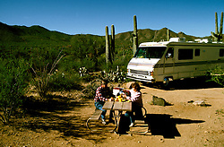 RV life: RV life at Saguaro National Monument, AZ  .Photo Copyright: Lee Foster, lee@fostertravel.com, www.fostertravel.com,  (510) 549-2202.Image rvlife201