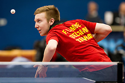 Florent Lambient from Belgium during Qualification match between National teams of Slovenia and Belgium for ITTF European Championship 2019, on February 27, 2018 in Otocec, Slovenia. Photo by Urban Urbanc / Sportida