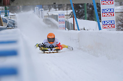 February 23, 2019 - Calgary, Alberta, Canada - Germany finishes her second run during BMW IBSF Skeleton World Cup Calgary Canada. (Credit Image: © Russian Look via ZUMA Wire)