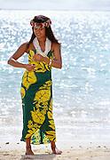 Polynesian woman, Hawaii.