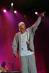 Eminem performs on the main stage at Gig on the Green 2001 on Saturday 25th August 2001, at <br /> Glasgow Green, Glasgow, Scotland.
