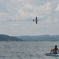 Red Bull Air Race held over lake balaton in Zamardi, Hungary on July 14, 2019. ATTILA VOLGYI