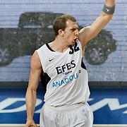 Efes Pilsen's Sinan GULER during their Turkish Basketball league match Efes Pilsen between Erdemir at the Sinan Erdem  Arena in Istanbul Turkey on Saturday 29 January 2011. Photo by TURKPIX