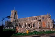 A752X3 Holy Trinity church Blythburgh Suffolk England