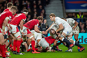 Twickenham, England, 7th March 2020, [L] Joe MARLER, supported by Joe LAUNCHBURY, during the Guinness Six Nations, International Rugby, England vs Wales, RFU Stadium, United Kingdom, [Mandatory Credit; Peter SPURRIER/Intersport Images]