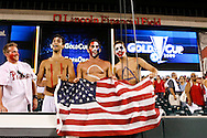July 18 2009: USA fans celebrate after the game between USA and Panama. The United States defeated Panama 2-1 in added extra time in a CONCACAF Gold Cup quarter-final match at Lincoln Financial Field in Philadelphia, Pennsylvania.