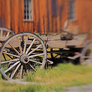 Old Wood Wagon - Bodie, CA - Lensbaby