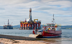 Nigg to Cromarty ferry at Cromarty village on Black Isle on Cromarty Firth, Ross and Cromarty, Scotland, UK