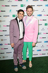 Pink News Awards 2019 <br /> At Church House, London, Great Britain <br /> 16th October 2019 <br /> <br /> Benjamin Cohen with husband Dr Anthony James <br /> <br /> Photograph by Elliott Franks