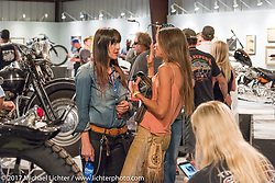 Betsy Huelskamp at the Old Iron - Young Blood exhibition media and industry reception in the Motorcycles as Art gallery at the Buffalo Chip during the annual Sturgis Black Hills Motorcycle Rally. Sturgis, SD. USA. Sunday August 6, 2017. Photography ©2017 Michael Lichter.