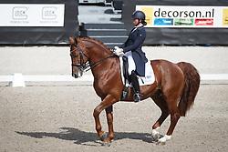 De Frel Stephanie, (NED), Vmf Zethar<br /> Kingsley Donadeo Grand Prix<br /> Dutch Championship Dressage - Ermelo 2015<br /> © Hippo Foto - Dirk Caremans<br /> 17/07/15