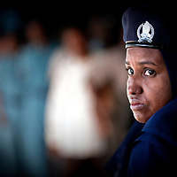 USE ARROWS ← → on your keyboard to navigate this slide-show<br /> <br /> Khartoum, Sudan, 11 April 2010<br /> A police woman monitors a polling station during the presidential elections in Sudan.<br /> Photo: Ezequiel Scagnetti