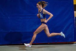 Bregje Sloot in action on the 800 meter during AA Drink Dutch Athletics Championship Indoor on 20 February 2021 in Apeldoorn.