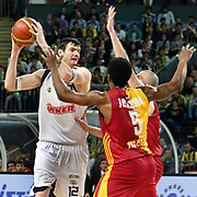 Fenerbahce Ulker's Darjus LAVRINOVIC (L) during their Turkish Basketball league derby match  Fenerbahce Ulker between Galatasaray Cafe Crown at Sinan Erdem Arena in Istanbul, Turkey, Wednesday, April 20, 2011. Photo by TURKPIX