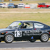 David Fishlock in the All Hours Tilt Tray and Recovery Holden Gemini competing in Improved Production at Wanneroo Raceway.