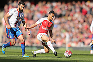 Francis Coquelin of Arsenal in action. Barclays Premier league match, Arsenal v Crystal Palace at the Emirates Stadium in London on Sunday 17th April 2016.<br /> pic by John Patrick Fletcher, Andrew Orchard sports photography.