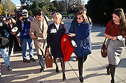 Freshman Congressional Representative Carolyn McCarthy followed by the media November 15, 1996 In Washington DC. McCarthy was elected to Congress after a gunman killed her husband and 5 others aboard a Long Island commuter train.