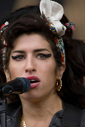 Amy Winehouse on the main stage, Sunday, T in the Park, 12th July 2008..T in the Park 2008 festival took place on the Friday 10th July, Saturday 11th July and Sunday 12th July, at Balado, near Kinross in Perth and Kinross, Scotland..Pic ©Michael Schofield. All Rights Reserved..
