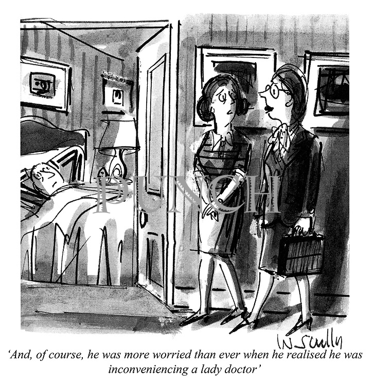 'And, of course, he was more worried than ever when he realised he was inconveniencing a lady doctor'