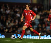 Villa Park Birmingham England U21 v Wales U21 (2-2 5-4 agg) 14/10/2008<br /> Aaron Ramsey (Wales) <br /> Photo Roger Parker Fotosports International