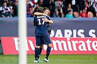 FOOTBALL - FRENCH CHAMPIONSHIP 2012/2013 - L1 - PARIS SAINT GERMAIN VS SOCHAUX - 29/09/2012 - KEVIN GAMEIRO (PARIS SAINT-GERMAIN), MAXWELL (PARIS SAINT-GERMAIN)