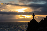 Taking in sunset on the North Atlantic Ocean on the Snaefellsnes Peninsula in western Iceland