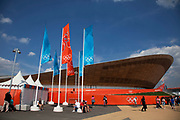 London, UK. Thursday 9th August 2012. London 2012 Olympic Games Park in Stratford. The velodrome.