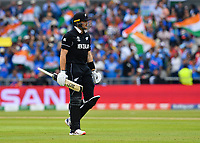 Cricket - 2019 ICC Cricket World Cup - 1st Semi-final - India vs New Zealand<br /> <br /> New Zealand's Martin Guptill dejected as he is caught by India's Virat Kohli off the bowling of Jasprit Bumrah for 1 at Old Trafford.<br /> <br /> COLORSPORT/ASHLEY WESTERN