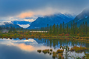 Morning light peaking through clouds <br />