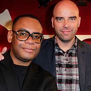 NLD/Amsterdam/20121121 - Presentatie deelnemers comedy avond Lulverhalen, Howard Komproe en Leon Verdonschot