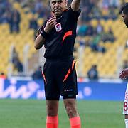 Referee's Bulent Yildirim during their Turkish superleague soccer match Fenerbahce between Balikesirspor at the Sukru Saracaoglu stadium in Istanbul Turkey on Saturday 02 May 2015. Photo by TURKPIX