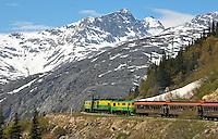White Pass train near Skagway, Alaska