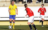 Fotball<br /> La Manga 201<br /> 28.02.2012<br /> Landskamp U23<br /> Norge v Sverige / Norway v Sweden 0:3<br /> Foto: Morten Olsen, Digitalsport<br /> <br /> Emma Lund - Sverige