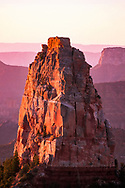 Mount Hayden at sunrise, from below the rim near, Grand Canyon National Park, © David A. Ponton